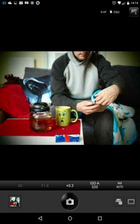 Olympus Image Share App Screenshot auf meinem Nexus 7