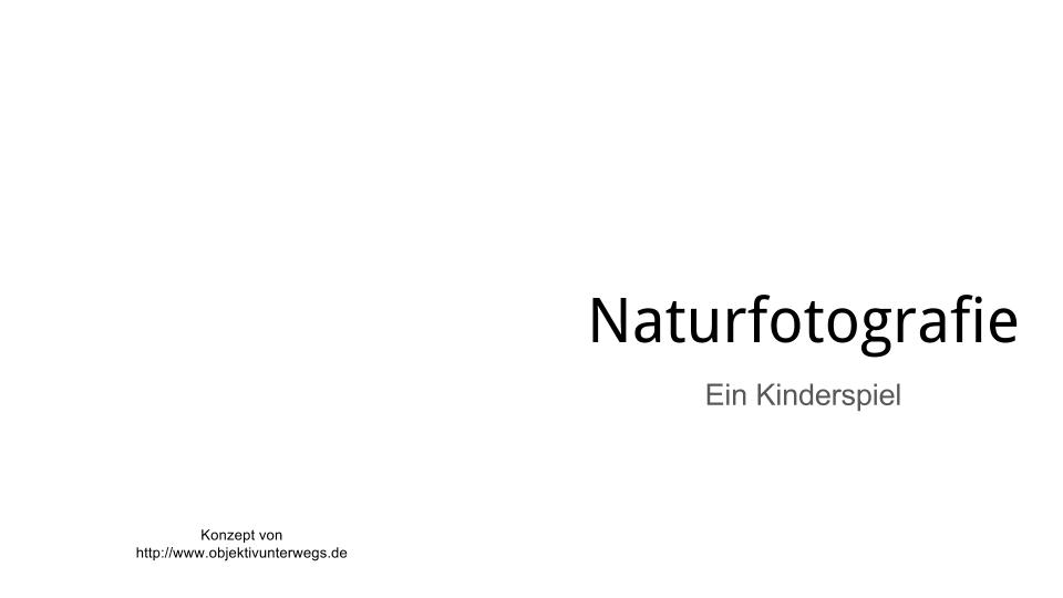 Naturfotografie Buchkonzept 00 Titel